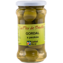 Zelené olivy Gordal s peckou