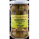 Zelené olivy Manzanilla s paprikovou pastou
